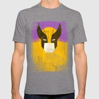 Logan Grunge Mens Fitted Tee Tri-Grey SMALL