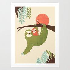 Mama Sloth Art Print