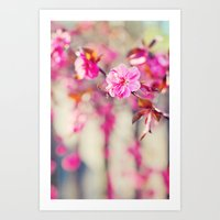 Peach Tree Art Print