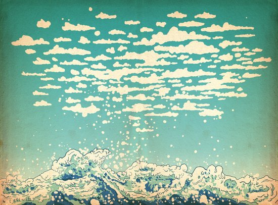 Where The Clouds Are Born Art Print