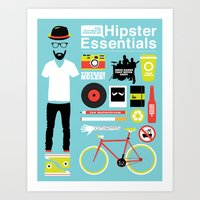 Hipster Essentials Art Print