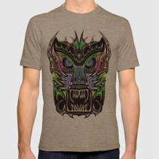 Tribal Mask V Mens Fitted Tee Tri-Coffee SMALL
