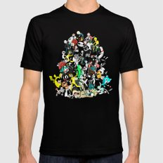 The External World Mens Fitted Tee Black SMALL