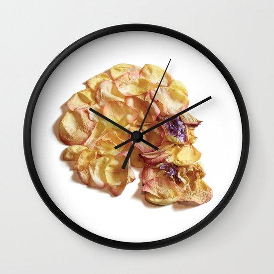 60. Flower Skull Wall Clock