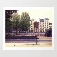Parisienne Bench Art Print