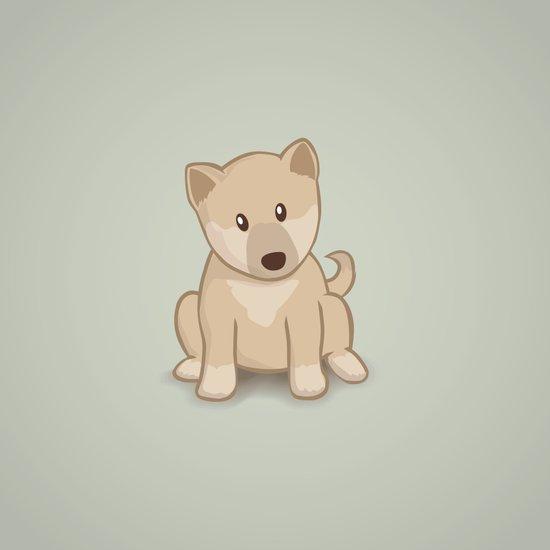Shiba Inu Dog Illustration Art Print