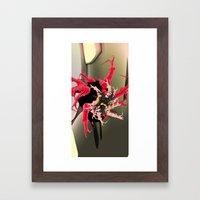 fleur les mot Framed Art Print