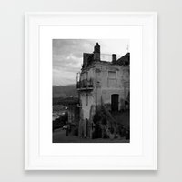 Framed Art Print featuring The Old Part of Town by Amy Taylor
