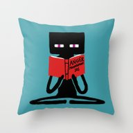 Enderman - Self Improvem… Throw Pillow