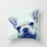French Bulldog Geometric Throw Pillow