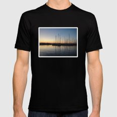Piraceus - Greece SMALL Black Mens Fitted Tee