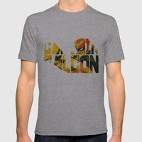 Captain Falcon Mens Fitted Tee Athletic Grey SMALL