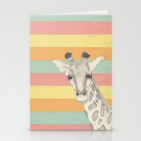 giraffe Stationery Cards featuring Giraffe by Tammy Kushnir
