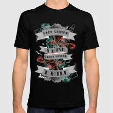 Stop Saying I Wish... SMALL Mens Fitted Tee Black