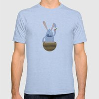 Fake Food Rabbit Mens Fitted Tee Athletic Blue SMALL