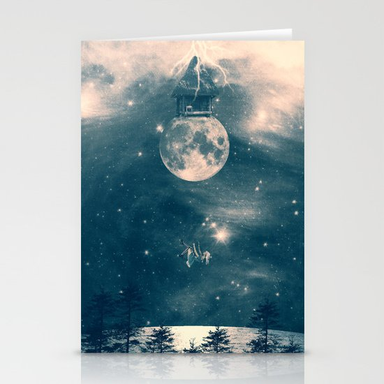 One Day I Fell from My Moon Cottage... Stationery Card