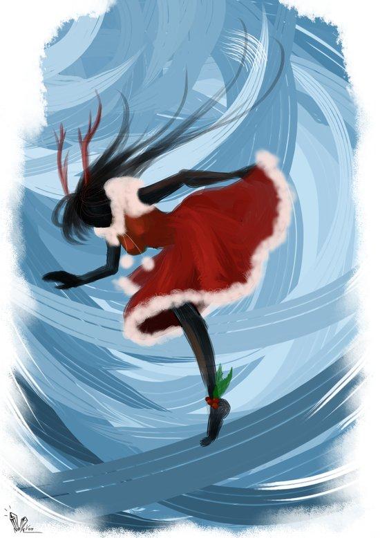 The Christmas Spirit Art Print