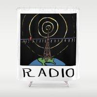 Radio Shower Curtain