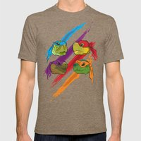 Turtle Heads Mens Fitted Tee Tri-Coffee SMALL