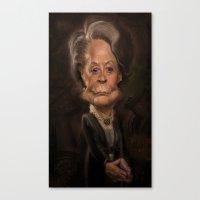 Dame Maggie Smith Canvas Print