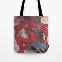 Scorpio: The Feared Revenger (Oct 23 - Nov 21) / Original Gouache On Paper Painting / Illustration Tote Bag