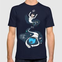 Across the dark hole Mens Fitted Tee Navy SMALL