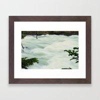 Slow Shutter Falls Framed Art Print