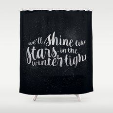 Shine like Stars - Winter Shower Curtain