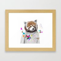 RED PANDA by Jamie Mitchell and Kris Tate Framed Art Print