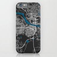 Little Rock City Map Bla… iPhone 6 Slim Case