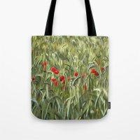 Cornfield Poppy Landscape Tote Bag
