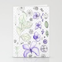Violet Watercolor Stationery Cards