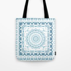 In Blue (Pattern Mandala) Tote Bag
