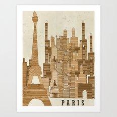 Paris City Vintage Art Print