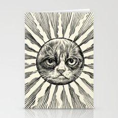 Grumpy Face in Sun Stationery Cards