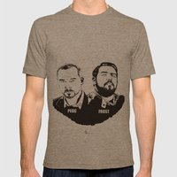 Simon Pegg & Nick Frost Mens Fitted Tee Tri-Coffee SMALL