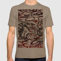 Koi Whirlpool Mens Fitted Tee Tri-Coffee SMALL