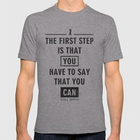 Will Smith Quote - Motiv… Mens Fitted Tee Athletic Grey SMALL