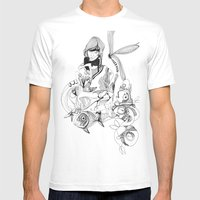 Aquarium Mens Fitted Tee White SMALL