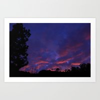 Sunset After Rain Art Print