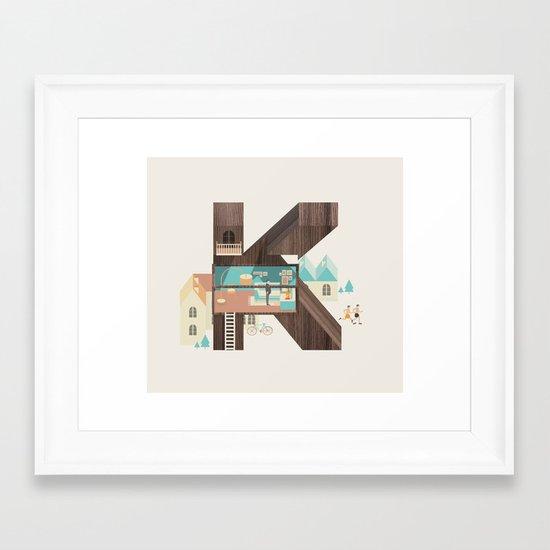 Resort Type - Letter K Framed Art Print