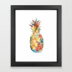 Colorful Pineapple Framed Art Print