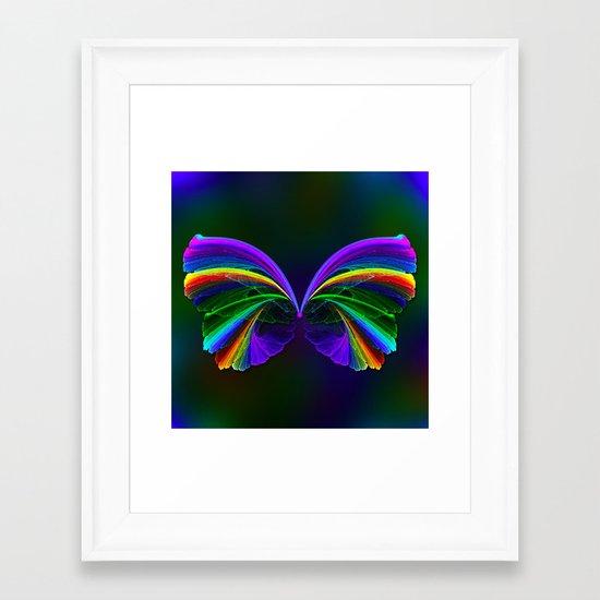 Rainbow Butterfly Framed Art Print