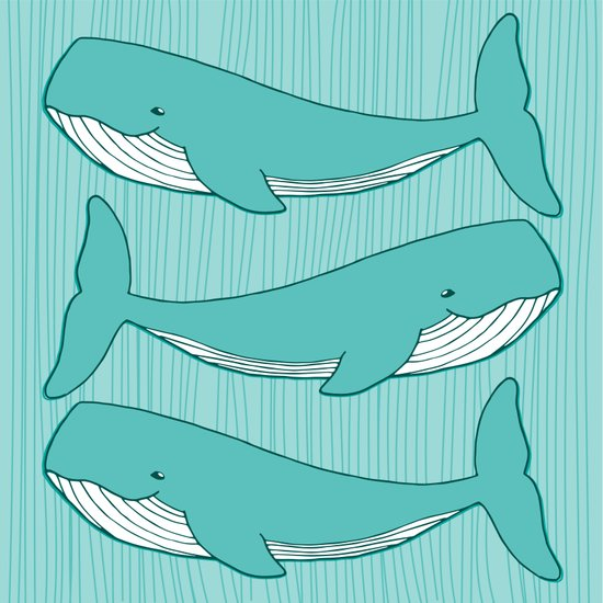 illustration, whales, sea - cyan_rose | ello