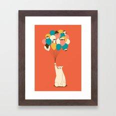 Penguin Bouquet Framed Art Print