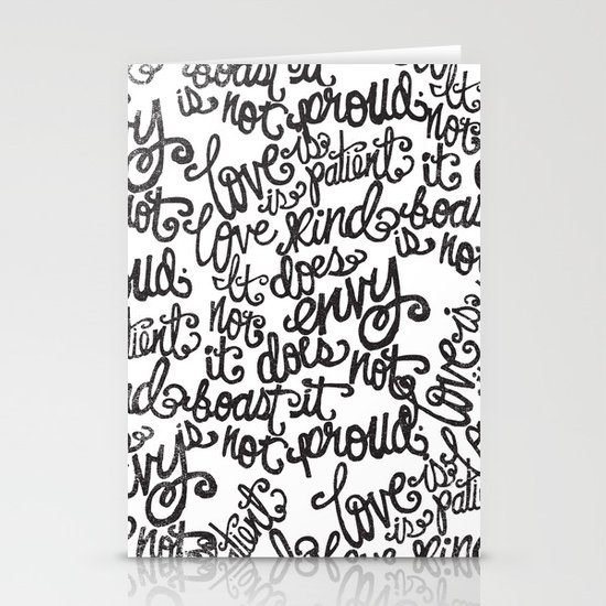 LOVE IS PATIENT... Stationery Card