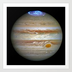 Hubble Captures Vivid Auroras in Jupiter's Atmosphere Art Print