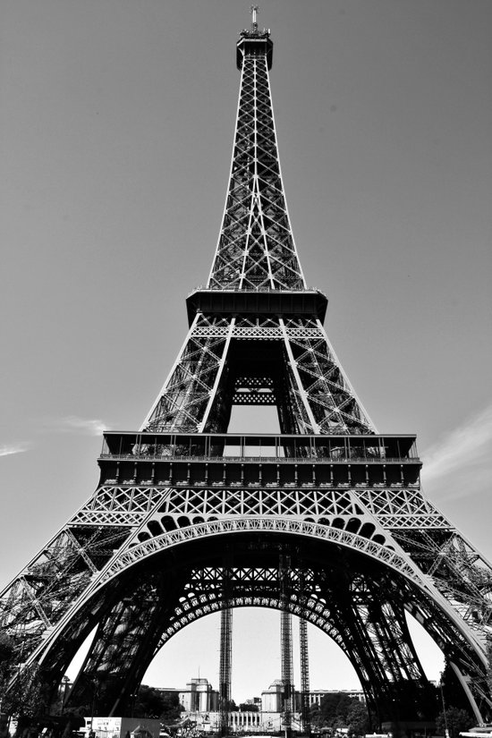 Tower Eiffel En Noir Canvas Print
