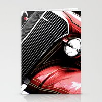 3 Alarm Red Stationery Cards