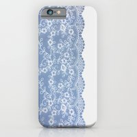 Lace #Blue iPhone 6 Slim Case